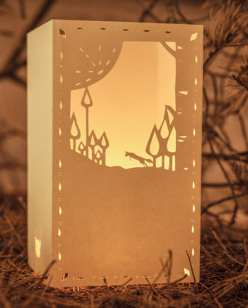 HAPPY FOX PAPER LANTERNS IOUCHKA