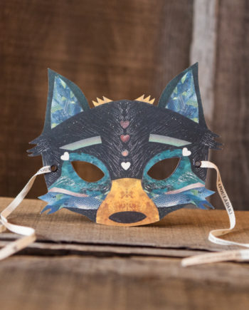 NINN APOULADAKI PARTY MASKS - PACKS KIDS - BIRTHDAY - WOODLAND - BLUE WOLF