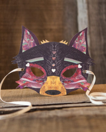 NINN APOULADAKI PARTY MASKS - PACKS KIDS - BIRTHDAY - WOODLAND - CHERRY WOLF