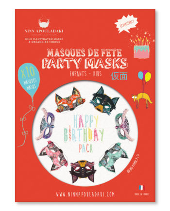 NINN APOULADAKI PARTY MASKS - PACKS KIDS - BIRTHDAY