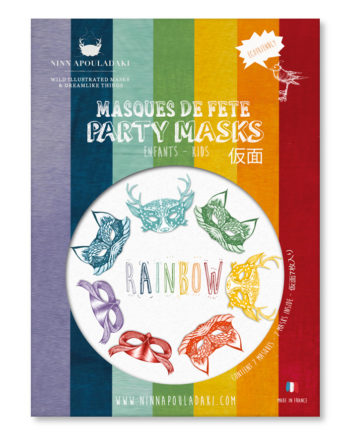 NINN APOULADAKI PARTY MASKS - PACKS KIDS - RAINBOW
