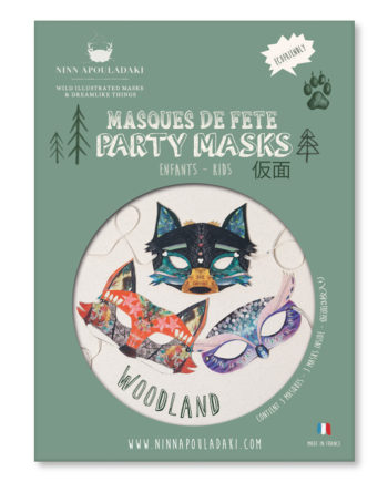 NINN APOULADAKI PARTY MASKS - PACKS KIDS - WOODLAND