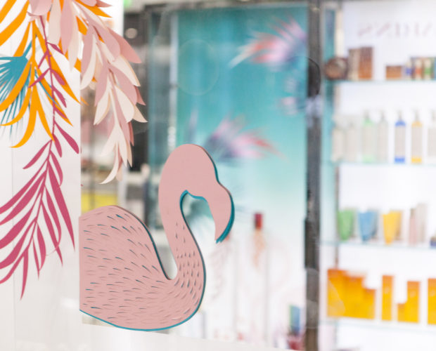 Paper art - Spa Clarins - Royal Monceau Paris